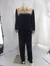 ST JOHN SPORT Navy 2-Piece Casual Pants & Full-Zip Jacket Blazer Suit Set Size M