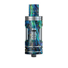 Skin Decal for Smok TFV4 Mini Tank Vape Mod / Abalone Shell Green Swirl Blue Go
