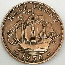 British 1950 Half Penny Uncirculated Coin