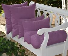 Set of 6 ~ Lilac Lavender Purple Throw Pillows Square Rectangle Bolster Outdoor