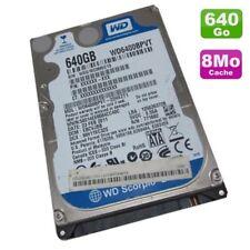 "Disque dur 640 Go Sata 2.5"" WD Scorpio Blue WD 6400 BPVT Laptop 8 Mo"