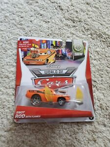 DISNEY Pixar World CARS Orange SNOT ROD with Exhaust Flames Tunners Vehicle NIP