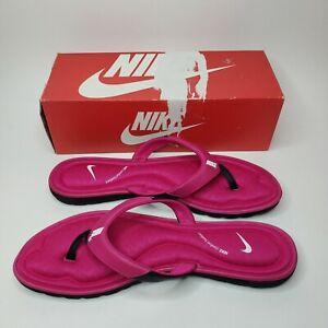 Nike flip flops Solar Soft Thong Women size 12 Pink