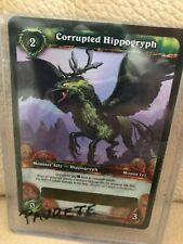 WOW World of Warcraft TCG Unscratched Loot Card Corrupted Hippogryph