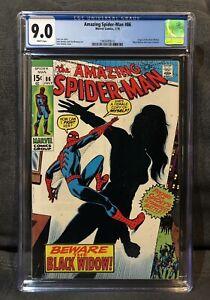 AMAZING SPIDER-MAN 86 CGC 9.0 WP Origin Black Widow movie Classic Black Costume