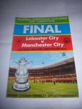 Leicester City Home Teams L-N Final Football FA Cup Fixture Programmes