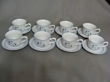 8 Covington Edition Hand Decorated Stoneware Cups & 8 Saucers, Avondale, Japan