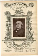 Lemercier, Paris-Portrait, Ferdinand Fabre (1827-1898), romancier Vintage albume