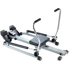 PEARL sports Rudergerät mit Trainingscomputer, Schlagzähler, Hydraulik-Zylinder
