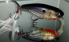 Custom Painted BASS SNAX Prop Maxx  Topwater Fishing Lure Ghost Threadfin
