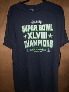 47 Brand Nfl Seattle Seahawks Superbowl Champion Large T Shirt