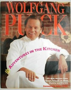 Wolfgang Puck, Adventures in the Kitchen, Hardcover, Signed Edition, 1991