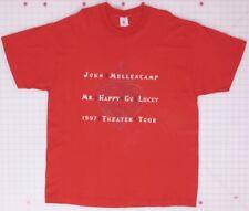 John Mellencamp Mr. Happy Go Lucky 1997 Theater Tour Red XL T-Shirt