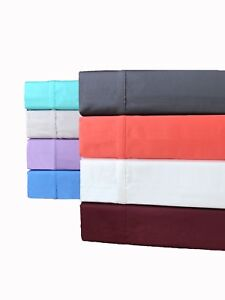 100% Cotton Sateen 300 T/C Sheet Set (5 Sizes & 8 Colours) Free Delivery