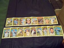 1972 Topps Montreal Expos Team Set of 17