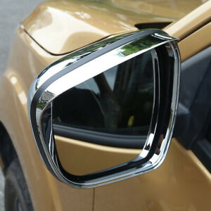 Chrome Side Mirror Eyebrow Cover 2pcs For Nissan Navara Frontier NP300 2015-2019