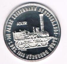 Medaille  140 Jahre  1. EISENBAHN Deutschlands  Adler  -- ca. 17g --1000er Silbe