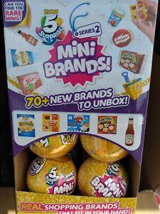 Zuru 5 Surprise Mini Brands Series 2 gold Lot Of 12 W/display Box
