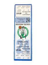 Boston Celtics v. Charlotte Hornets Feb 7 1990 Complete Ticket