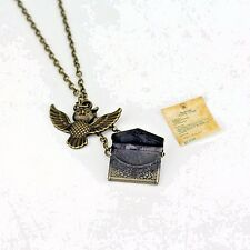 Hedwig Owl Necklace with Harry Potter Hogwarts Acceptance Letter - UK STOCK