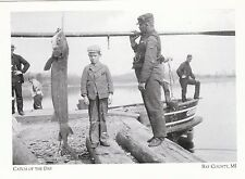 "*Postcard-""Catch of The Day"" /On Tug Charlie O. Smith/  *Bay County, MI. (A320)"