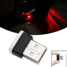 1pcs HID Red USB Plug-In Car Miniature Interior Ambient Extra LED Lighting Kit