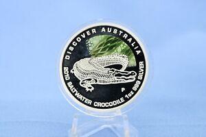 Australien 1 $ 2010 Discover Australia Crocodile 1 oz Silber *PP/Proof*