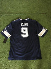 Dallas Cowboys Tony Romo #9 Nike On Field Game Replica Jersey Navy Large NFL