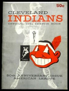 1951 Cleveland Indians Official Sketch Book