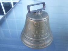 "Antique Brass Horse Cow Bell 3 1/2"" Dia. Chiantel Fondeur 1878 Saignelegier"