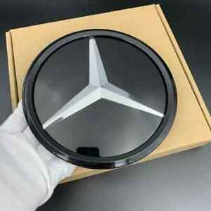For Mercedes-Benz 2011-2020 C E W205 Black Mirror Front Grille Badge Emblem Logo
