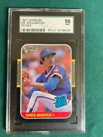 1987 DONRUSS GREG MADDUX  ROOKIE SGC 96 MINT..LIKE PSA 9/9.5.CHICAGO CUBS