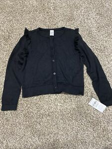 New Carter's girls size 7 Black button up Sweater Cardigan