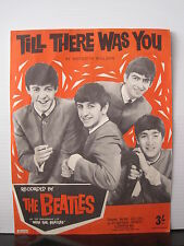 THE BEATLES Till There Was You UK ORIG SHEET MUSIC BOOKLET Free UK Post