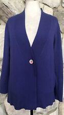 Jones New York Women's Purple 100% Cashmere V-Neck Cardigan Sweater Sz M