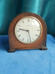 Vintage Smiths Alarm Clock - Made in Great Britain Wooden Mantle