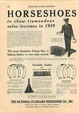 1930 ADVERT National Standard Horseshoe Yale Football Boxing Gloves Shadow Ball