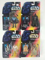 Star Wars Kenner Power Of The Force  Tusken, Luke, Vader, Lando 1996 Sealed