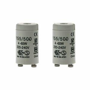 Pack x2 EVEREADY Fluorescent Starter 4-65W FSU 220-240V Flu Tube Start FS-U UK