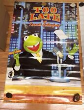 Kermit The Frog, Muppets Poster, New Old Stock, Jim Henson Creation letterfrog