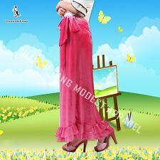 SHARON TANG Modest Apparel Long Stretch Velvet Ruffle Bow Skirt M ST132080019-6