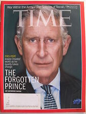 PRINCE CHARLES  November 4, 2013 TIME Magazine TRICK OR TREAT FOR CATS & DOGS