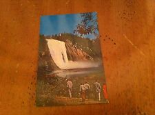 Les Chutes Montmorency Quebec Falls Waterfall Canada Vintage Unused postcard old