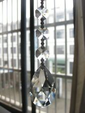 10/Lot Clear Crystal Chandelier Part Glass Prisms 1.5''/38MM Hanging Drop CCP501