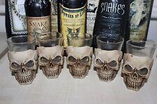 Cráneo Gótico espeluznantes Mini Vaso-sostenedor de vela 7 X 5 X 5cm Halloween