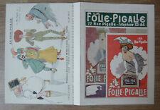 Carton programme La Folie-Pigalle (1900) – Jules Moy