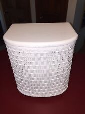 Vintage Harvey Hamper Baby Child Laundry Nursery Clothes Old Small Wicker Wood
