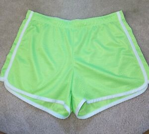 Neon Green Justice Gym Shorts Size 18 Girls