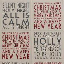 East of India Christmas Sticker Sheet - Carols x 35 - Craft / Scrapbooking