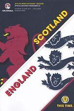 * SCOTLAND v ENGLAND (10th June 2017 - WORLD CUP QUALIFIER) *